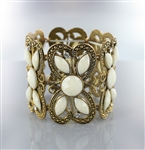 Acrylic Ornament Rhinestone Antique Bracelet
