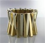 Acrylic Metal Layered Bangle