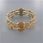 3pc Honeycomb Enamel Bangle