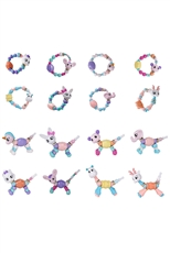 A Dozen Assorted Color Magic Pet Bead Bracelet