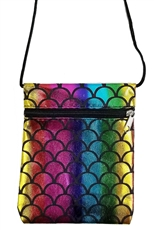 A Dozen Assorted Color Mermaid Mini Messenger Bag