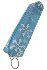 A Dozen Assorted Color Snowflake Pencil Case
