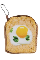 A Dozen Assorted Color Bread Theme Coin Purse