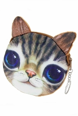 A Dozen Assorted Color 3D Printing Cat Coin Purse