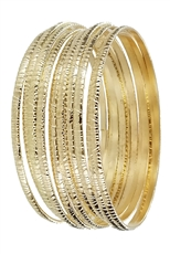 A Dozen Assorted Color 10-pc Stack Bangle