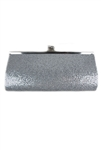 Silver Glittered Evening Bag