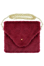 A Dozen Assorted Color Soft Fur Clutch Bag