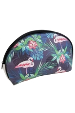 Dozen Flamingo and Leaves Cosmetic Bag