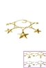 Dozen Assorted Color Star and Cross Charm Bracelet