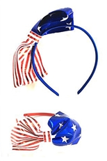 Dozen Assorted Color American Flag Headband