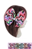 Dozen Assorted Color Multi Tone Chevron Bow Hair Clip