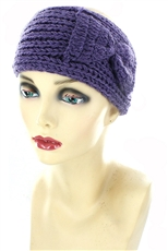 Dozen Assorted Color Bow Accent Knit Headwrap