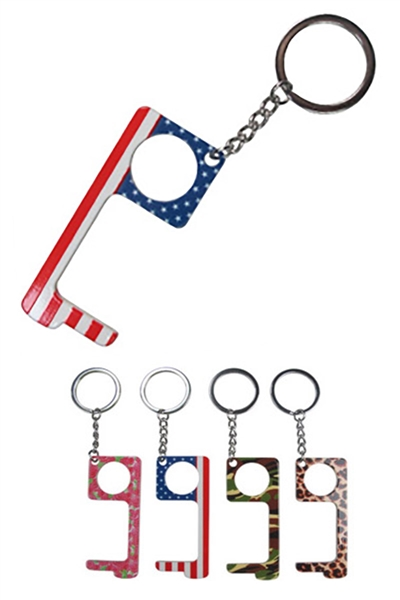 A Dozen Assorted Color Touch Free Door Opener Multi Purpose Key Chain