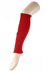 DZ Pack Assorted Color Solid Knit Leg Warmers