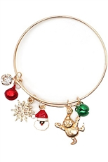 A Dozen Assorted Color Christmas Charm Bracelet