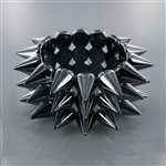 Acrylic Metal Stretch Spike Bracelet