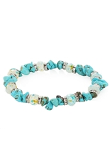 Dozen Assorted Color Gemstone Stretch Bracelet