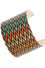 A Dozen Assorted Color Tribal Print Cuff Bangle