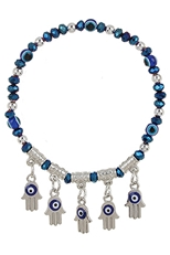 A Dozen Assorted Color Evil Eye Stretch Bracelet