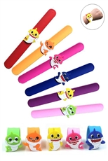 24-pc Assorted Color Shark Slap Bracelet