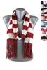 DZ Pack Assorted Color Striped Knit Scarves with Tassels