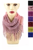 DZ Pack Assorted Color Knitted Tunnel Scarves with Tassel