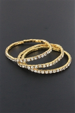 Dozen 3-pc Rhinestone Stretch Bracelet Set