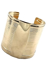 A Dozen Assorted Color Metallic Cuff Bangle