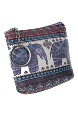 Dozen Assorted Color Tribal Print Coin Purse