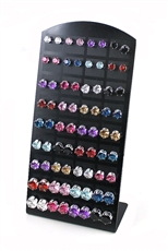 3 Dozen Assorted Color Stud Earring with Display Case