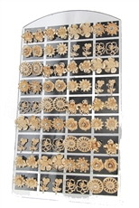 36-pair Gold Stud Earring with Display Case