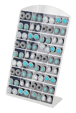 36-pair Turquoise Stud Earring with Display Case