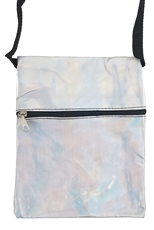A Dozen Assorted Color Hologram Mini Messenger Bag