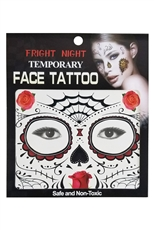 A Dozen Assorted Temporary Face Tattoos