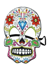 A Dozen Assorted Color Sugar Skull Mask