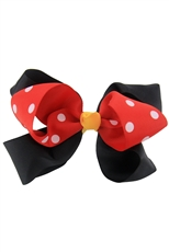 Dozen Multi Tone Polka Dot Bow Hair Clip