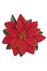 A Dozen Poinsettia Flower Hair Clip