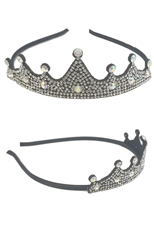 A Dozen Assorted Color Rhinestone Crown Headband