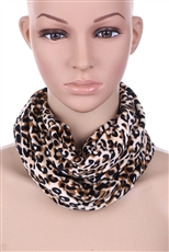 A Dozen Assorted Color 2 in 1 Leopard Scarf and Neck Gaiter