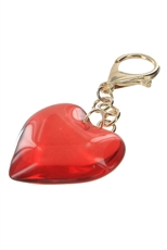 Dozen Red Heart Key Chain