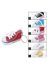A Dozen Assorted Color 3D Sneaker Key Chain