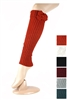 DZ Pack Assorted Color Bow Charm Knit Leg Warmers with Buttons