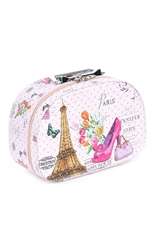 Eiffel Tower Print 3-pc Makeup Box Set