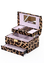 Leopard Print Jewelry Case