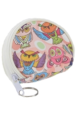 Dozen Assorted Color Owl Coin Purse