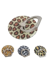A Dozen Assorted Color Leopard Phone Grip Stand Holder