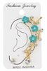 Dozen Assorted Color Flower Accent Rhinestone Ear Cuff Earring
