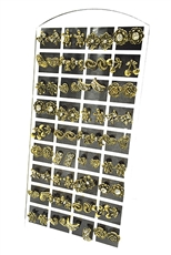 36 pairs Assorted Style Stud Earring with Display Case