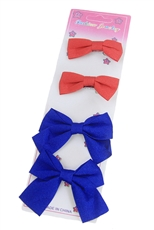 Dozen(4pcs each card) Assorted Color Alligator Clip Bow