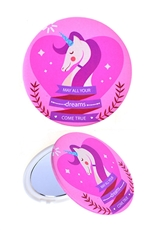 Dozen Assorted Color Unicorn Compact Mirror